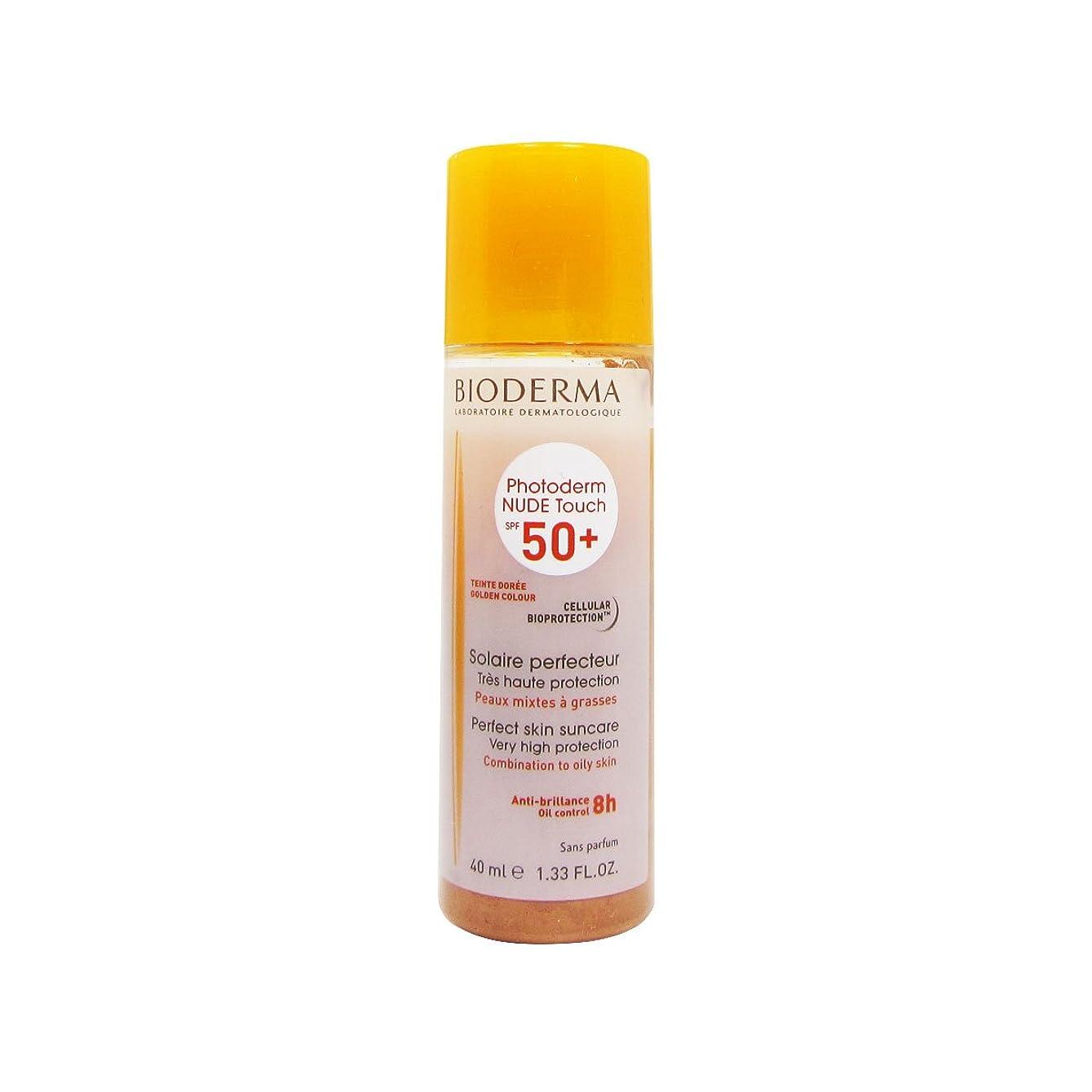 グレー圧縮する原点Bioderma Photoderm Nude Touch Spf50 + Golden 40ml [並行輸入品]