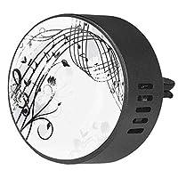 2pcsアロマセラピーディフューザーカーエッセンシャルオイルディフューザーベントクリップ音符バタフライ