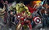WHTYY Avengers Fototapete Benutzerdefinierte 3D Wallpaper für Wände Hulk Iron Man Captain America Fototapete Junge Schlafzimmer Wohnzimmer Designer-250X175cm
