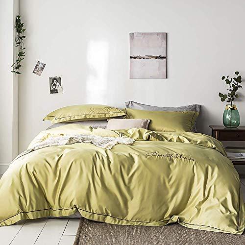 Säng påslakan Säng påslakan satin sängkläder set king size grå sängkläder set satin silke påslakan mjuk silkeslen 4 delar täcke set dubbelsäng dubbel storlek blank satin