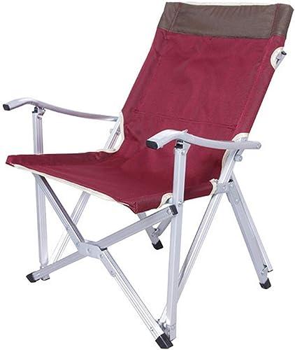 NMNMNM Chaises Chaise de Camping Pliable en Tissu Oxford en Aluminium pour la pêche en Plein air ou Une Excursion Autonome. Tabouret Pliable