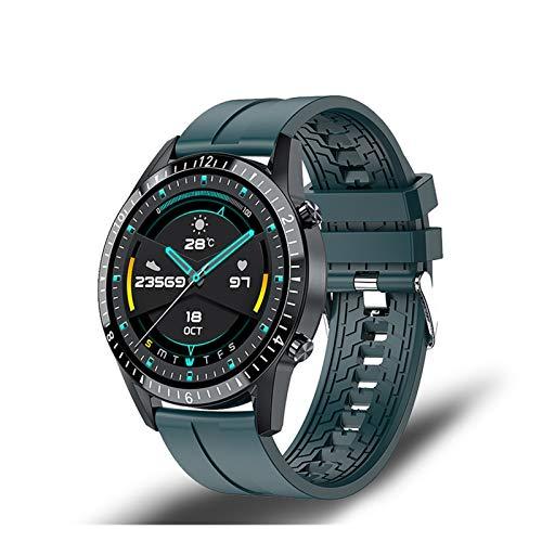 Smart Watch Phone Pantalla Táctil Completa Sport Fitness Watch IP68 Conexión a Prueba De Bluetooth a Prueba De Agua para Android iOS SmartWatch Hombres (Color : Green)