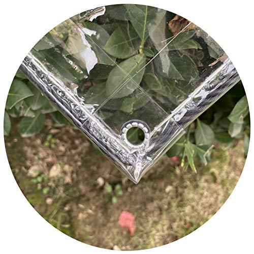 PENGFEI Toldo Impermeable, Refuerzo Borde, Lona Impermeable Vidrio Suave Engrosada, Muebles Plantas Invernadero Resistente Intemperie Retardante Llama, 54 Tamaños (Color : Claro, Size : 2x3m)