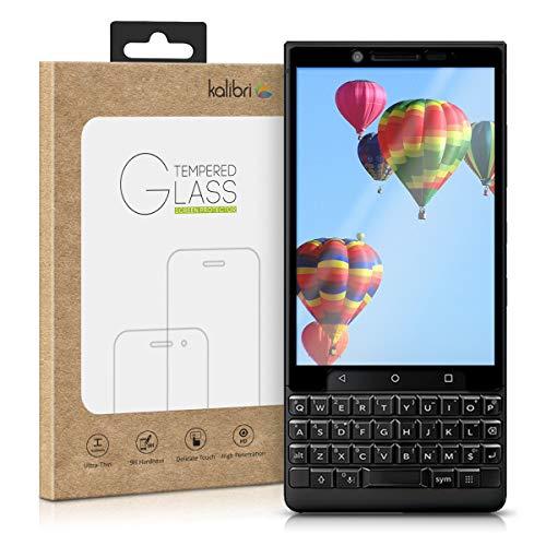 kalibri Folie kompatibel mit BlackBerry KEYtwo (Key2) - 3D Glas Handy Schutzfolie - auch für gewölbtes Display