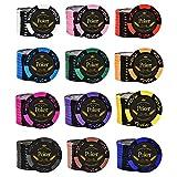 Poker Chips LJ 120/240 fichas, Póker Sin Valor, Resistentes, 14...