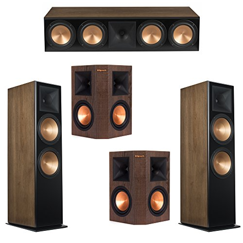 For Sale! Klipsch 5.0 Walnut System with 2 RF-7 III Floorstanding Speakers, 1 RC-64 III Center Speaker, 2 Klipsch RP-250S Surround Speakers