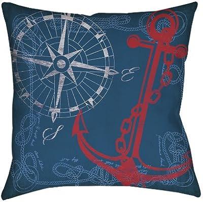 16 by 16 3dRose pc/_180709/_1 Elegant Red Black Zebra Animal Print Monogram Letter N-Pillow Case