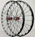 Llanta de bicicleta MTB BiCycle Wheelset 26 27.5 29 pulgadas CNC Llantas de bicicleta a través del freno de disco del eje DH Ruedas de ciclismo Hub de cojinete sellado 24 orificio 7-11 cassette de vel