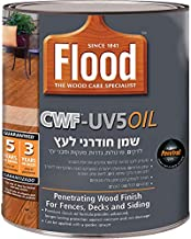 Sundeck CWF UV 5Oil | Flood Clear Wood Finish is a Premium Translucent, penetrating Oil Finish for Exterior Wood | Flood (1 Quart (0.945 Liter))