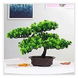 jbshop Bonsai Plant 10 Pulgadas Árbol de bonsáis Artificiales, decoración de plástico de la Planta de imitación, Plantas de la casa de Potted Fake, para Zen Garden Decor Fake Plant Decoration Plantas