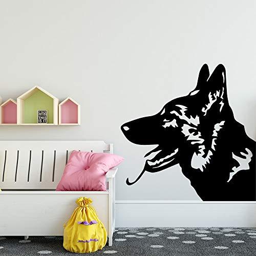 wZUN Pegatinas de Pared de Perro policía de Moda Pegatinas de Pared Pegatinas de Vinilo decoración de la habitación 45X45 cm