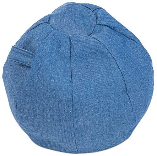 Betzold 757871 - Sitzball Jeans - Sitzsack Kinder Indoor Sitzkissen