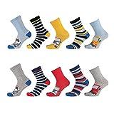 Lieblingsstrumpf24 10er Pack Socken Kinder Jungen Mädchen Baumwolle(Auto Mix 23-26)
