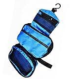 Colgando de Tocador viaje bolso de la colada (Azul)