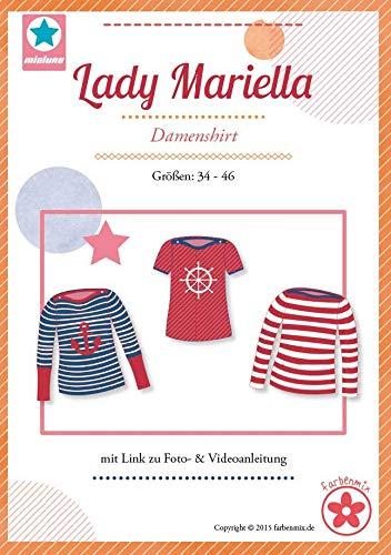 Farbenmix Lady Mariella Schnittmuster (Papierschnittmuster für die Größen 34-44) Damenshirt