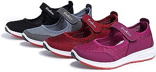 レディース ウォーキングシューズ メッシュ カジュアルシューズ サンダル 通気 ベルクロ シニア 安全靴 婦人靴 お年寄り 安定感 滑り止め 履きやすい 疲れない 大きいサイズ 25.5cm