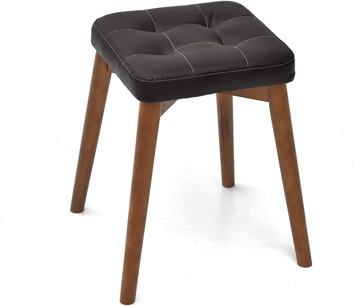 CXQ Fashion Creative Stool Beech Wood Wood Dining Stool Dressing Stool Home Bench Brown Square Stool