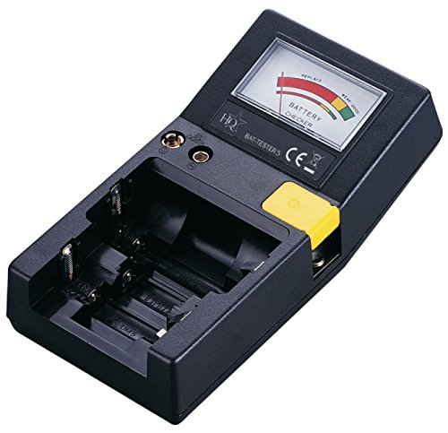 TronicXL Batterie/Akku Tester Batterietester Testgerät Prüfer AAA AA C D 9 V Knopfzellen