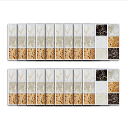 Adhesivo de vinilo para baldosas/mármol, empalme cuadrado con patrón de ladrillo, adhesivo de pared, aceite de cocina y adhesivo para azulejos a prueba de agua