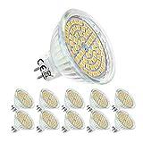 5W Mr16 GU 5.3 LED Blanco Cálido 12V Bombillas,Lámparas Halógenas Equivalentes a 50W,No Regulable,10 Unidades