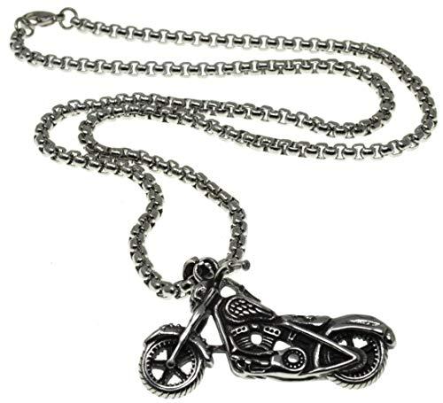 K8 Collar de los hombres Motor de moto Pulsera de cadena de motorista cadena de moto Acero inoxidable Motocicleta Metal regalo