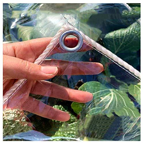 YYFANG Lona De Protección, Paño Transparente Impermeable Y A Prueba De Lluvia De 0.3 Mm Lona Resistente Al Viento for Ventanas Y Balcones, Cortina De Agua (Color : Claro, Size : 2.74x3.96m)