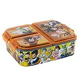 Sandwicheras con 3 Compartimentos para niños - lonchera Infantil - Porta merienda - Fiambrera Decorada (Dragon Ball)