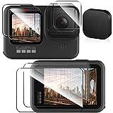 blackbeetle Gopro hero9 フィルム ゴープロ9 液晶保護フィルム 6枚入り2セット+レンズキャップ アクセサリー