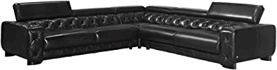 Amazon.com: Soflex Tegan-Lu Brown Italian Leather Sectional ...