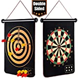 EITPOTON Magnetic Dart Board for Kids, Indoor Outdoor Board Games Set, Kids Toys Gift for Boys Girls Age 5 6 7 8 9 10 11 12 13 14 15 16 Years Old (Black, 15') …