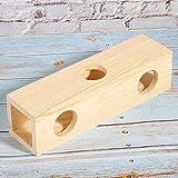 PINSHangFENg tunnel per criceti, in legno naturale, piccolo...