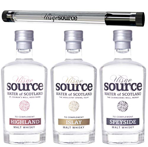 Uisge Source Spring Water for Whisky Three Regions Set with Pipette