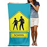 utong Toallas de Playa 100% algodón 80x130cm Toalla de Secado rápido para Nadadores School Crossing Beach Blanket