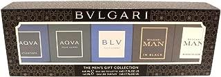 Bvlgari The Men's Gift Collection 5pcs (Aqva EDT 0.17oz+Aqva Atlantiqve EDT 0.17oz + Bvlgari Man in Black EDP 0.17 oz + Bvlgari Man Black Cologne EDT 0.17 oz + BLV Pou Homme EDT 0.17oz)