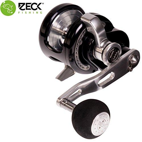 Zeck VR 5 Multirolle Rechtshand - Wallerrolle zum Angeln auf Waller, Welsrolle zum Wallerangeln, Angelrolle zum Welsangeln