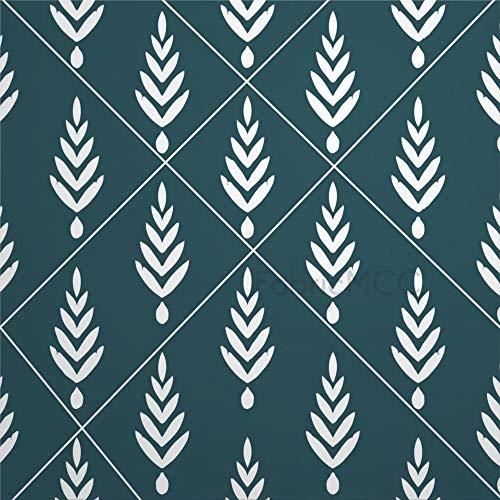 daoyiqi Juego de pegatinas decorativas para azulejos, diseño de hoja de helecho, planta vascular, 10,6 x 10,1 cm, vinilo adhesivo para suelo, 12 unidades, resistente al agua, para decoración del hogar