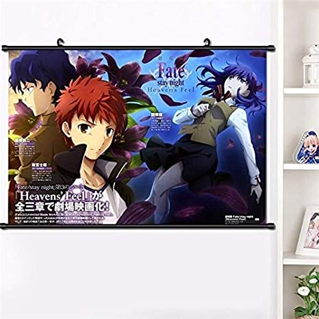 Anime Wall Scroll Fate stay night Heaven/'s Feel movie poster Home Decor Gift