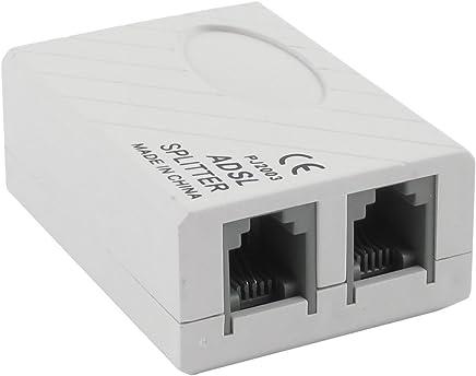 ADSL Broadband Filter Modem RJ11 Cable Telephone Phone Splitter