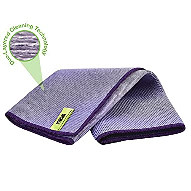 PERSIK Nano-Knockout Window Glass Microfiber Cloth - JUST ADD WATER No Detergents Needed – Streak Free ULTRA Microfiber Cleaning Towel - for Windows, Glass, Mirror and Screen - Leaves no Wiping Marks