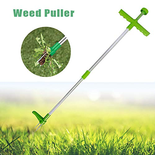 %5 OFF! Yimeezuyu Manual Weeders Stand Up Weeder and Weed Puller Weed Remover with 3 Claws Stainless...