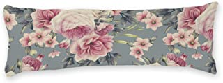 AILOVYO Vintage Family Style Floral & Leaves Soft Body Pillow Case Sleepy Silky Shiny Satin Body Pillow Cover Long Case Custom Material 20
