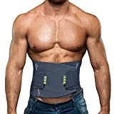 BERTER Lower Back Brace for Lower Back Pain Relief for Men & Women, Lumbar Back Support Belt with Compression Band-Lightweight, Breathable, Sleek & Ergonomic Design (XL, Blue)
