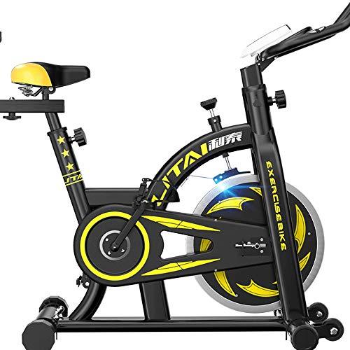 Vertical Ejercicio Bicicletas, Bicicleta Estática Profesional, Formación De Spin Cubierta De Bicicletas, Hogar De La Estancia De Bicicleta De Ejercicios Aparatos De Gimnasia, 115X110x51cm,Amarillo