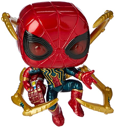 Funko- Pop Marvel: Endgame-Iron Spider w/NanoGauntlet Avengers Figura Coleccionable, Multicolor, Talla Única (45138)