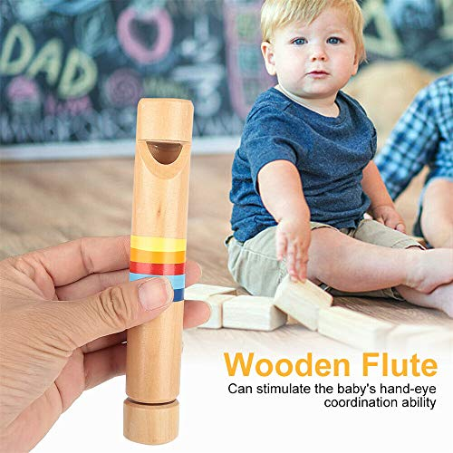 zhuangyulin6 1PC Kinder Holzflöte Pfeife Musikinstrument Lernspielzeug für Kinder, Kinder Holzflöte Pfeife Musikinstrument Spielzeug