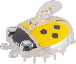 TOPBATHY 生まれたばかりの乳児の赤ちゃんのためのマッサージコームヘアブラシヘッドバスブラシ(イエローコクシネラ)1個