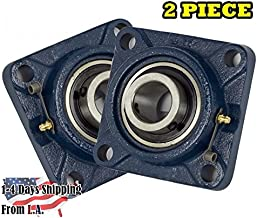2 Piece- UCF201-8 Pillow Block Bearing 1/2 inch Size Bore, 4-Bolt Flange, Solid Base, Self-Alignment