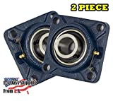 2 Pieces- 1 inch 4 Bolts Pillow Block Flange Bearing,UCF205-16,Self-Alignment,...
