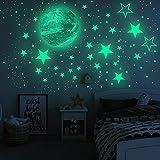 FRIUSATE Pegatinas de Pared Venus Luminoso Estrellas Puntos Pegatinas Pared Autoadhesivas para Niños Infantil Adhesivo de Techo Fluorescente Decoración de Dormitorio Habitación Techo(Venus)