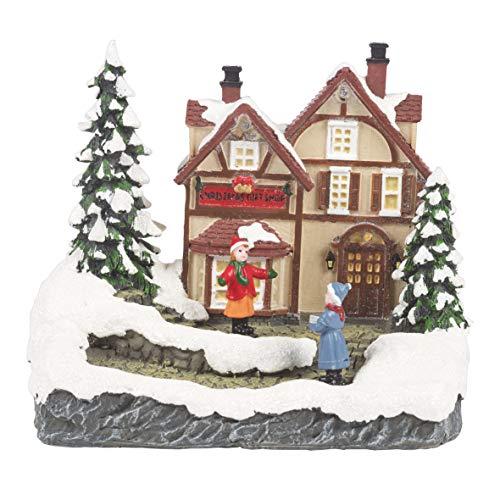 The Christmas Workshop - Figura Decorativa de Escena de Nieve, variada, 15,5 cm de Alto x 13 cm de Ancho x 10 cm de...